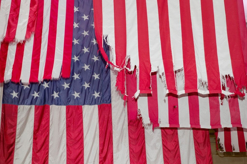 """Mel Ziegler: A Living Thing – Flag Exchange"" at Federal Hall. Courtesy of Guillaume Ziccarelli."