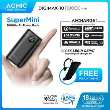 ACMIC DIGIMAX SuperMini Digital AiCharge Power Bank (QC4 + PD + VOOC)