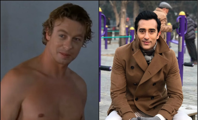Simon Baker and Rahul Khanna. Images from Facebook and Twitter