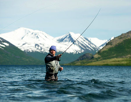 Fly fishing in Bristol Bay