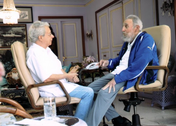 Fidel y Frei Betto el domingo 16 de febrero de 2014. Foto: Archivo