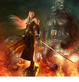 Final Fantasy VII Remake Wall Scroll