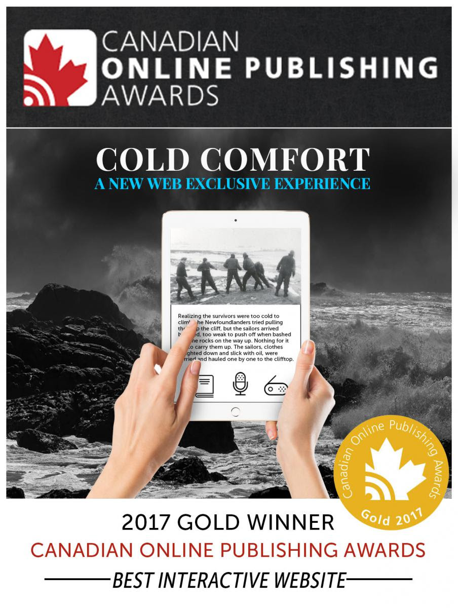 Cold Comfort Named Best Interactive Website!