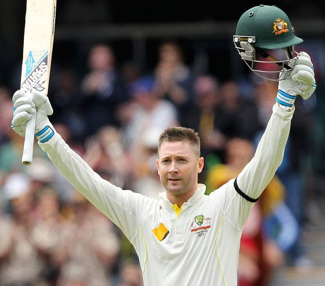 Michael Clarke became the 25th cricketer to achieve the 300 figure mark in test cricket
