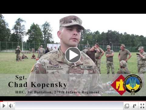 Combat first aid training, Yavoriv, Ukraine. (Video - US 7th Army). To view video, please click on image above