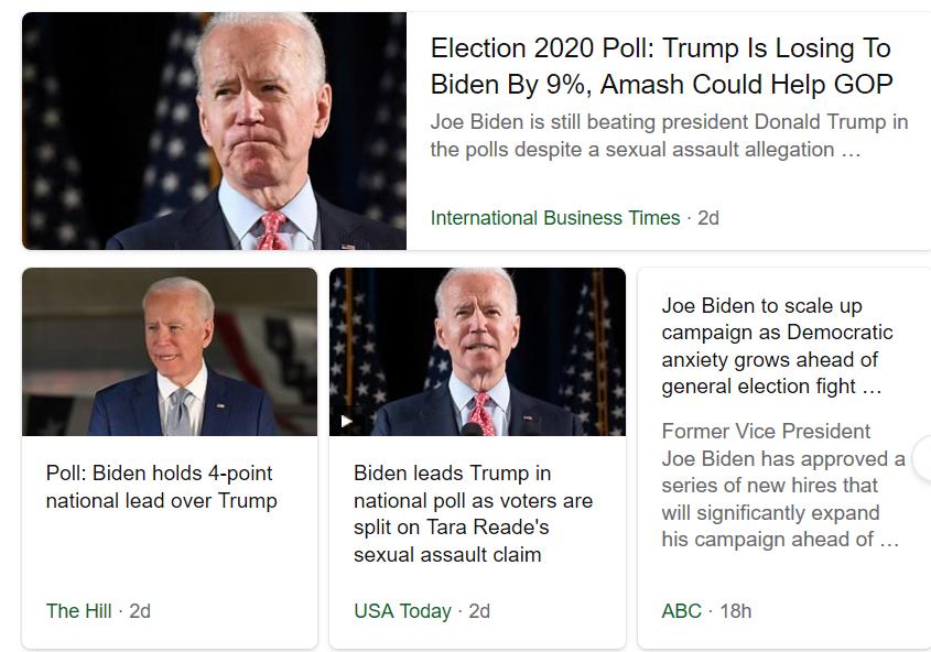 pics of screen showing joe biden winning in 2020