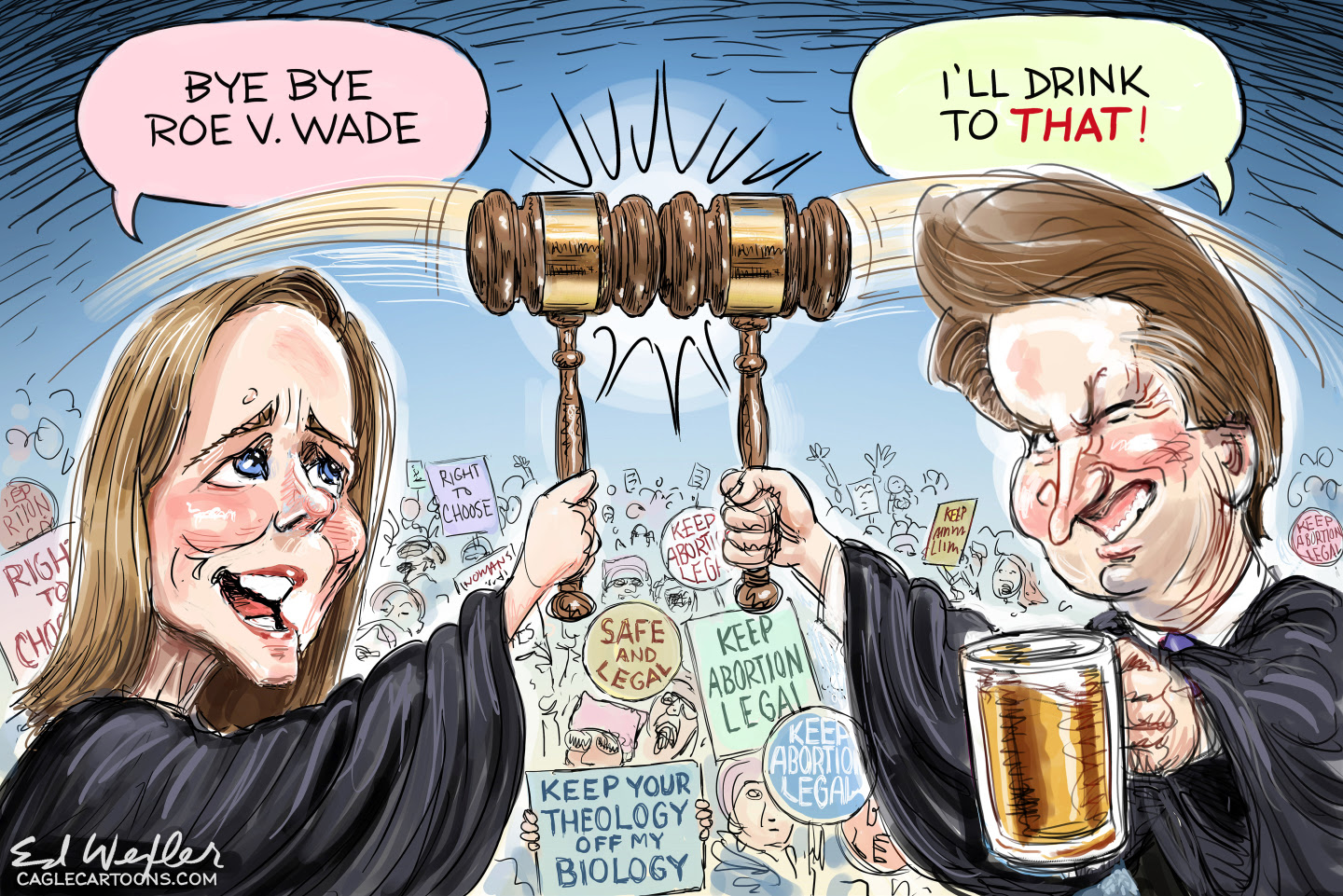 Supreme Court stacked with six conservative judges.