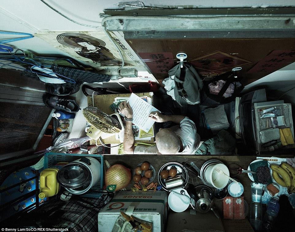 phẳng nhỏ Đây là một trong hàng trăm ngàn người ở Hồng Kông
