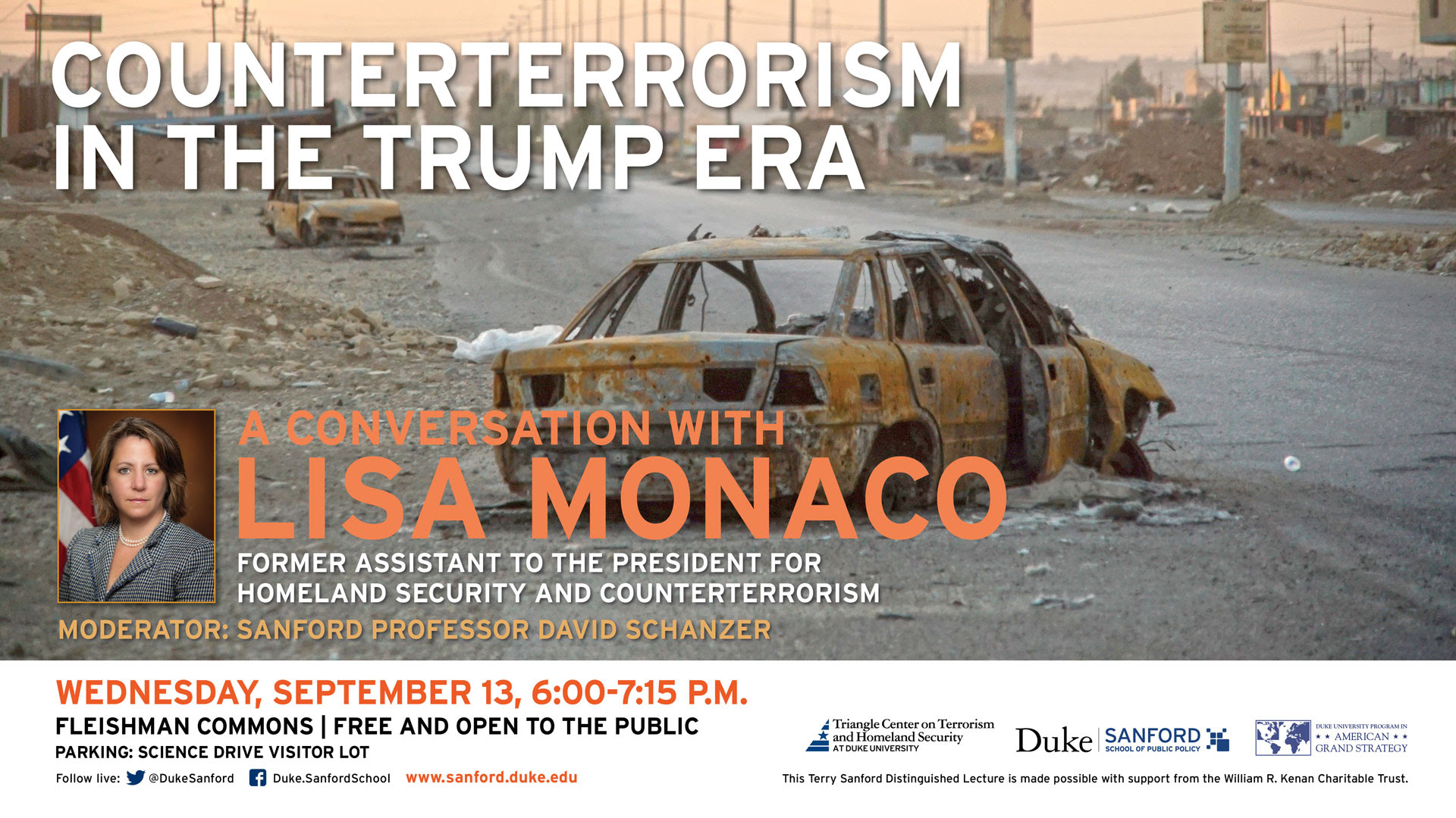 Counterterrorism in the Trump Era: A Conversation with Lisa Monaco @ Sanford School of Public Policy - Fleishman Commons | Durham | North Carolina | United States