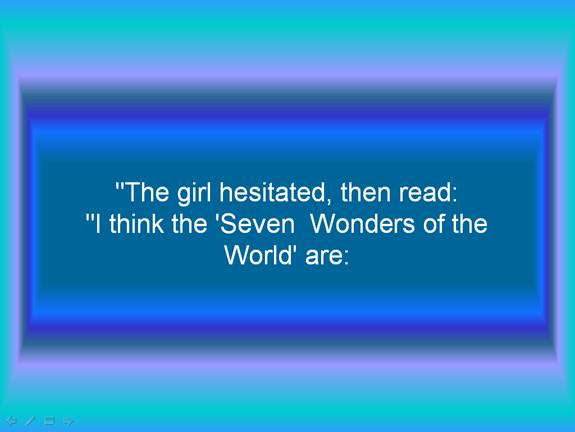 seven wonders of the world inspirational email forward