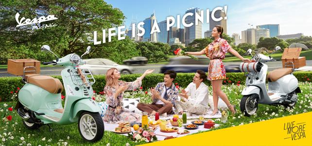 ベスパ プリマベーラ 150 ピクニックを発売 | いつでもどこでもその瞬間を楽しむことを演出するイタリアらしい生き方を表現した特別仕様車