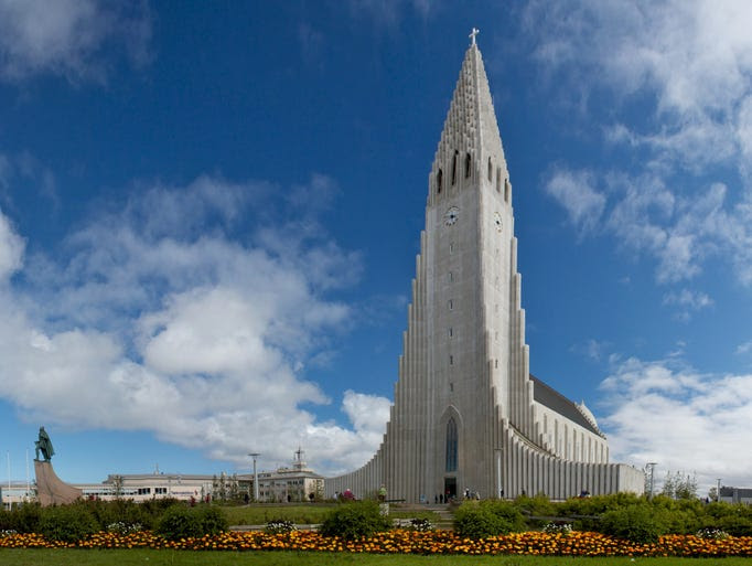 The                                                           Lutheran                                                           Church of                                                           Hallgrimur,                                                           also known as                                                           Hallgrimskirkia,                                                           stands 244                                                           feet tall,                                                           making it the                                                           tallest                                                             structure in                                                           Iceland. The                                                           expressionist                                                           structure is                                                           made from                                                           poured                                                           concrete and                                                           houses a                                                           5,275-pipe                                                           organ.