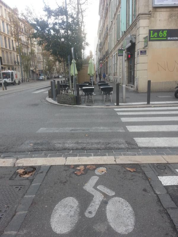 Boulevard Chave piste Cyclable Vélo barrière