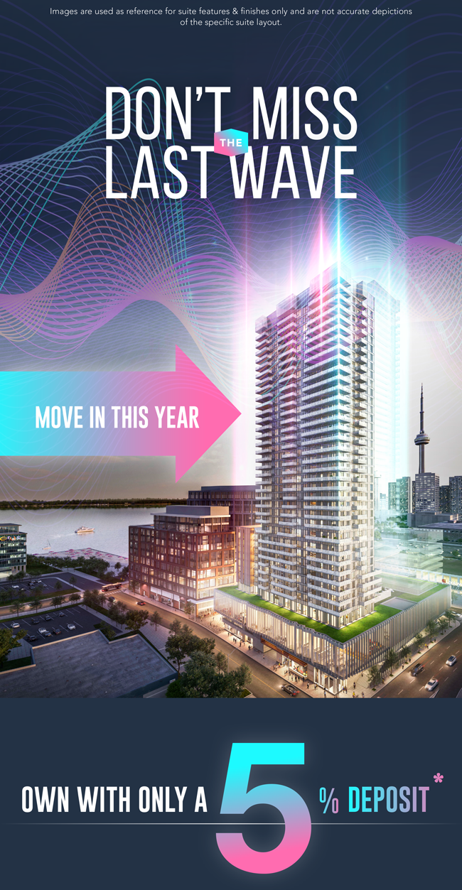 Don't miss the wave. Move in this year. Own with only a 5% deposit.