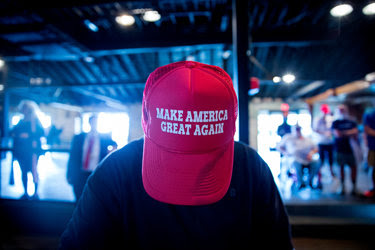 A supporter at a Donald J. Trump campaign event at Gilley's Dallas in Texas last week.
