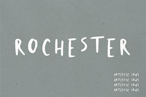 Rochester | Abstract Artistic Font