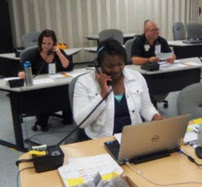 Medical Reserve Corps Volunteers staff call center