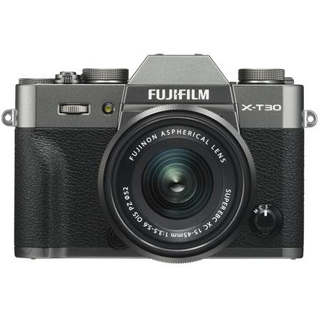 X-T30 Mirrorless Digital Camera with XC 15-45mm F3.5-5.6 OIS PZ Lens, Charcoal / Silver