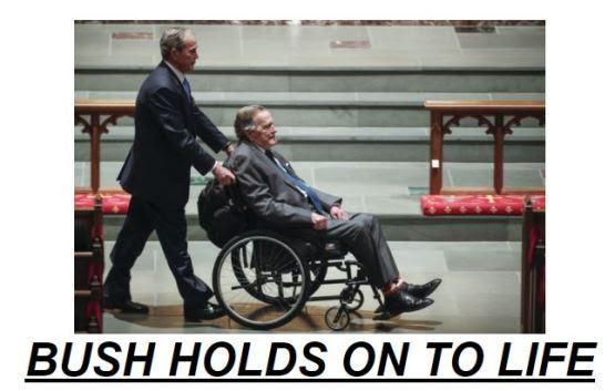 Former President George H.W. Bush Hospitalized  Bush-in-hospital