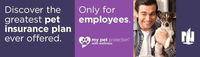Nationwide Pet Insurance: Discover the greatest pet insurance plan ever offered. Only for employees. My pet protection (TM) with wellness
