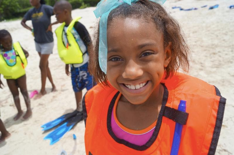 Hailey, snorkel, smile