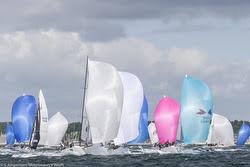 J/80s sailing World Championships off Kiel, Germany