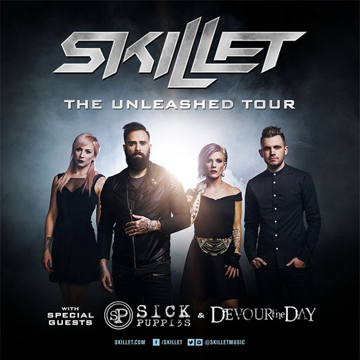 Skillet - UNLEASHED WINTER TOUR 2017