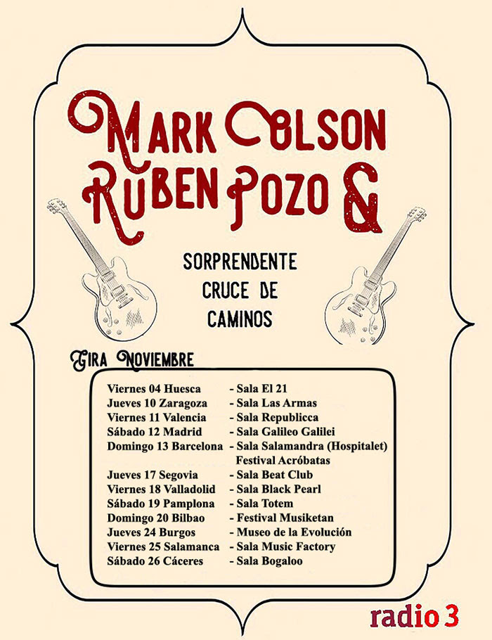 Tour Mark Olson y Rubén Pozo