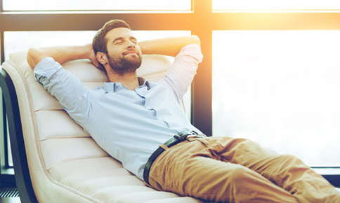 image of man relaxing.