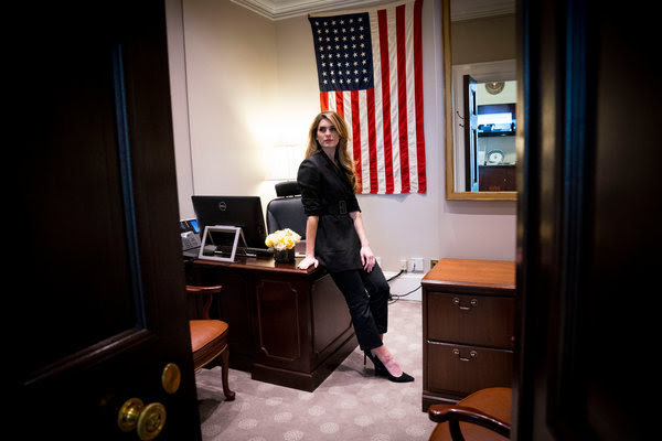 Hope Hicks, the departing White House communications director and longtime aide to President Trump, on her last day in the West Wing.