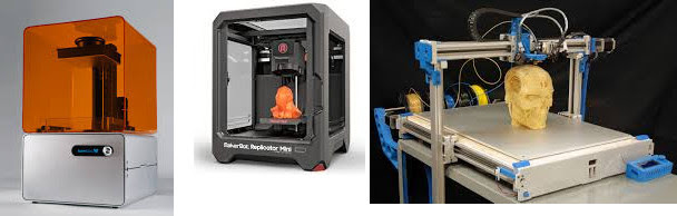 ypical 3D printers