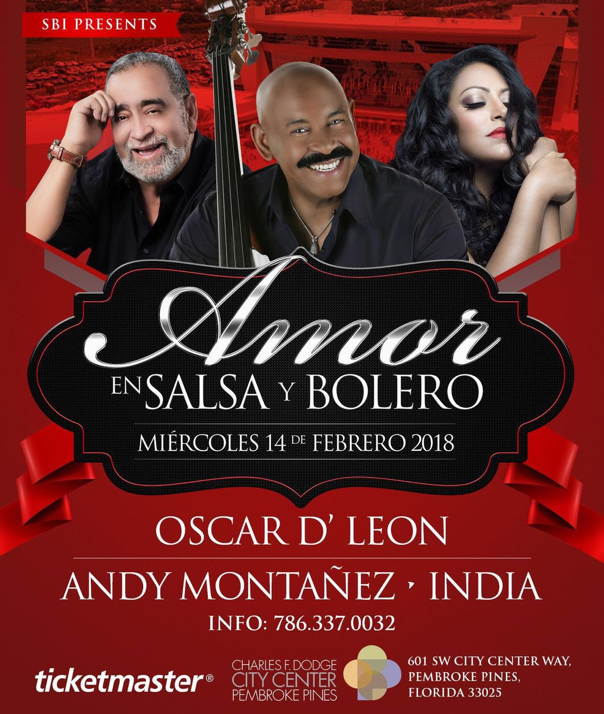 Oscar D Leon Andy Montanez y la India feb 14
