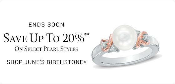 Save up to 20%** on select pearl styles.