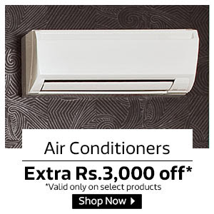 Extra Rs.3000 off on ACs towards Electricity Charges