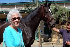 Elsie Margaret Erickson with Zenyatta