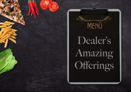 Menu with Food and Dealer Offering