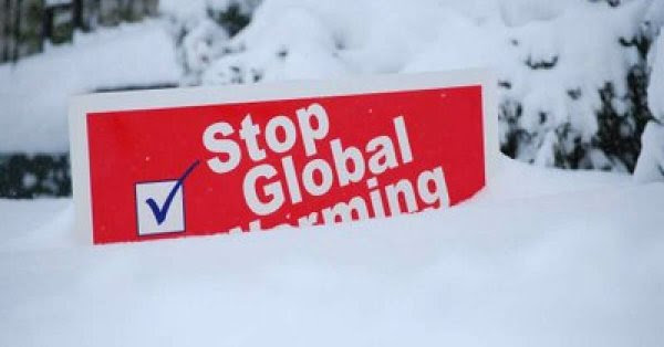 global warming in snow pic