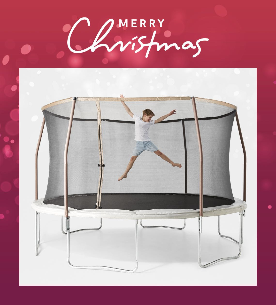 14 foot trampoline with enclosure Ages 6+ years $269