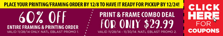 Printing/Framing Coupons