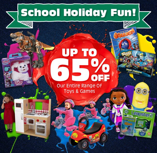 Save up to 65% off all toys & games  at DealsDirect.com.au