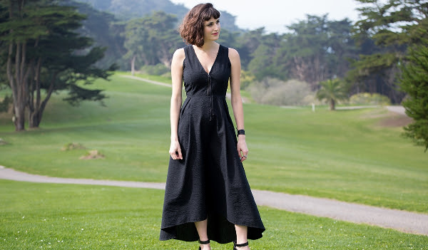Black Seersucker Dress