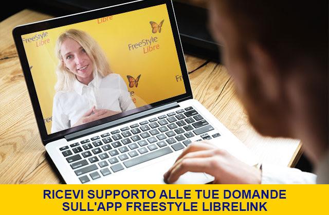Ricevi supporto alle tue domanDe sull'app FreeStyle LibreLink