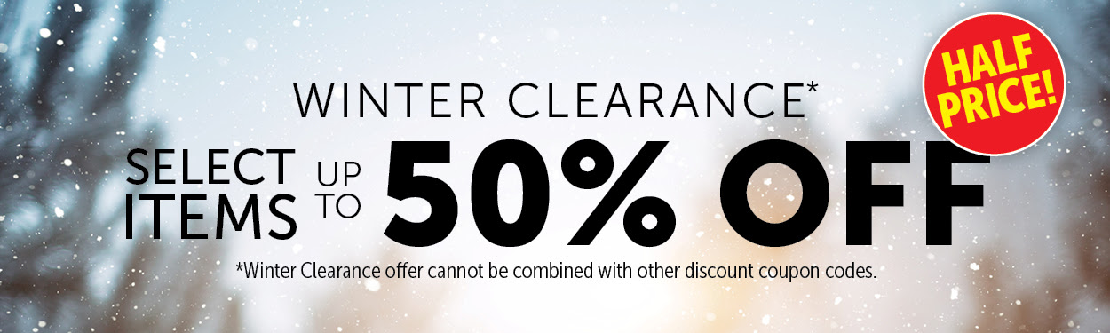 Winter Clearance – 50% OFF