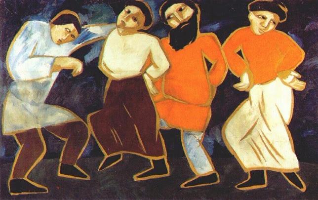 Крестьянские танцы. 1911 (644x405, 330Kb)
