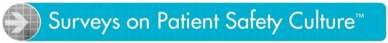 AHRQ Surveys on Patient Safety Culture Logo