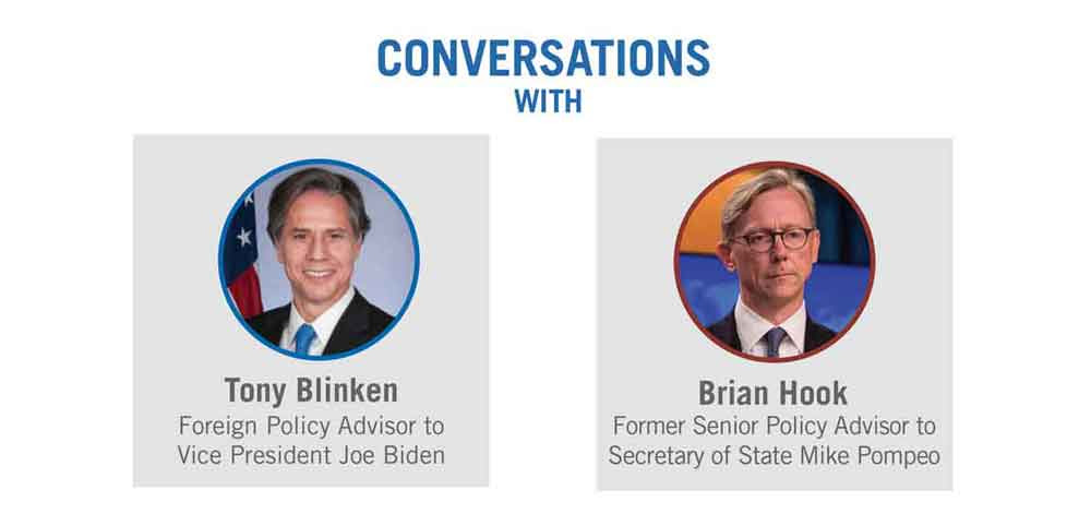 Conversations with Tony Blinken and Brian Hook