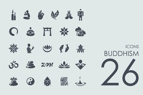 26 Buddhism icons