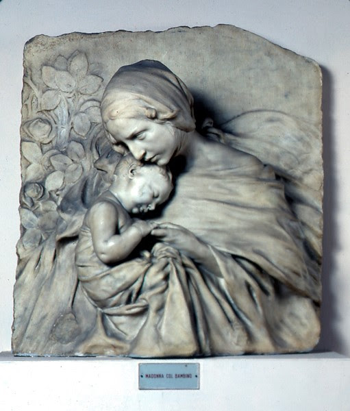 Sculpture in marble by Pietro Canonica