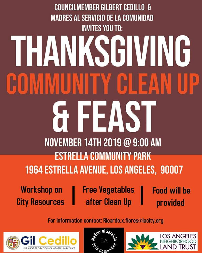Madres T-Giving Cleanup & Feast 11-14-19