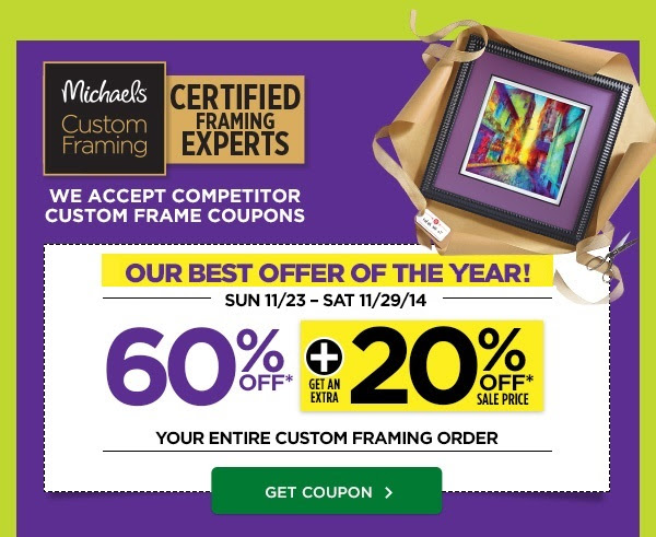 60% + 20% Entire Custom Framing Order Coupon